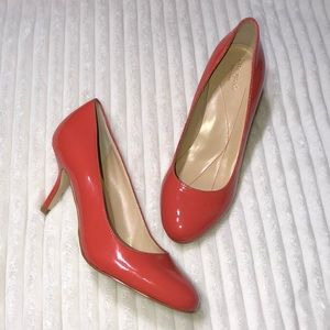 Kate Spade Coral Patent Leather Heels 6.5